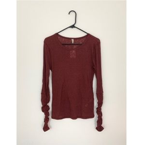 FREE PEOPLE Boundary Long Sleeve Layering Tee